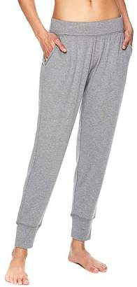 Gaiam Women's Active Pants FLINT - Flint Gray Heather 28'' Pocket Fleece Joggers - Women