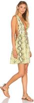 Indah Stellar Deep V Dress