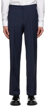 HUGO BOSS Navy Wool Trousers