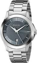 Gucci YA126441 Women's Timeless Wrist Watches, Grey Dial, Band
