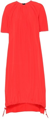 Marni Cotton drawstring-hem dress