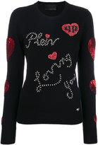 Philipp Plein embellished top - women - Polyamide/Cashmere/Merino - S
