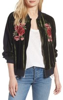 BP Women's Floral Embroidered Bomber