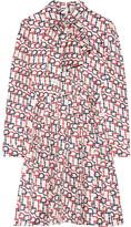 Gucci Pussy-bow Printed Silk-twill Mini Dress
