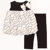 Rare Editions ruffled chiffon dress and leggings set - baby