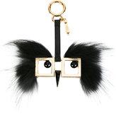 Fendi Hypnoteyes charm keyring - women - Brass - One Size
