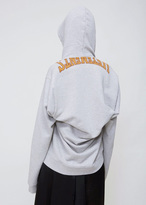 Vetements grey misplaced hoodie with pocket