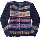 Ralph Lauren Fair Isle Cotton-Wool Cardigan
