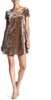 Socialite Velvet Short Sleeve Tee Dress