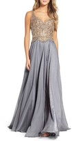 Mac Duggal Women's Beaded Ballgown