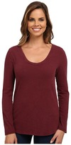 Dylan by True Grit Luxe Suede Knit Long Sleeve V-Tee