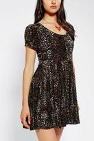 MinkPink Russian Roulette Velvet Dress