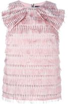 Marco Bologna bow detail fringed top