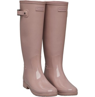 Hunter Womens Tall Gloss Duo Wellington Boots Bella