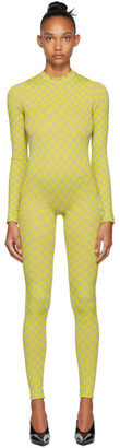 Off-White Yellow Bubble Check Jumpsuit