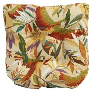 Bayou Breeze Tufted Dining Chair Outdoor Seat Cushion