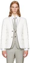 Thom Browne White Down Classic Blazer