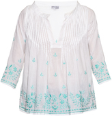 Juliet Dunn Hand-embroidered cotton shirt