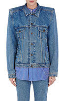 Balenciaga Women's Structured-Shoulder Denim Jacket