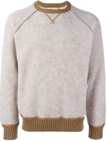 Al Duca D'Aosta 1902 - contrast trim knitted sweatshirt - men - Wool/Alpaca - XXL