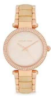 Michael Kors Mother-Of-Pearl & Stainless Steel Bracelet Watch