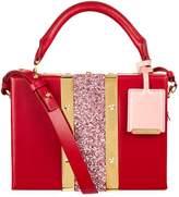Sophie Hulme Mini Albany Glitter Suitcase Shoulder Bag