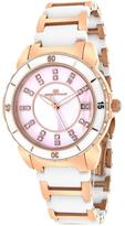 Oceanaut OC2413 Women's Charm Rose Gold & Black Ceramic Watch w/ Crystal Accents