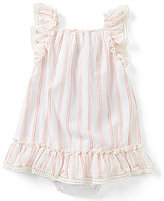 Rare Editions Baby Girls 3-24 Months Striped Ruffled Dress