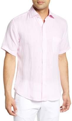 Peter Millar Crown Cool Regular Fit Short Sleeve Linen Button-Up Shirt