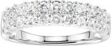 Diamonluxe DiamonLuxe1 1/2 Carat T.W. Simulated Diamond Double Row Ring
