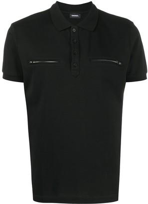 Diesel Zip-Pocket Polo Shirt