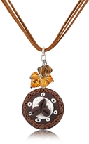 Dolci Gioie Chocolate Cake Pendant w/Lace