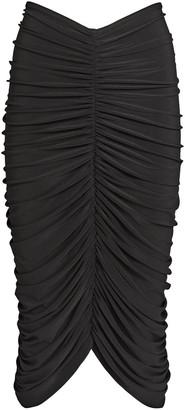 Norma Kamali Shirred Jersey Bodycon Skirt