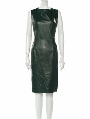 Oscar de la Renta 2013 Knee-Length Dress Green