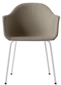 Menu Harbour Upholstered Dining Chair Upholstery Color: Brown, Leg Color: White