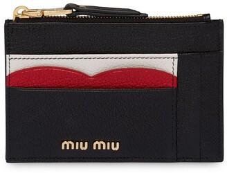 Miu Miu Logo Plaque Cardholder