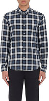 Theory Men's Rammy. Cullen Plaid Cotton Shirt-DARK GREY