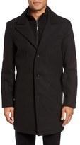 Kenneth Cole New York Men's Bib Inset Wool Blend Coat