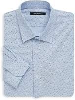 Saks Fifth Avenue BLACK Men's Floral Dotted Dress Shirt