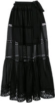 Alberta Ferretti semi-sheer flared maxi skirt - women - Cotton/other fibers - 42