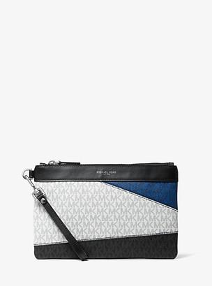 Michael Kors Color-Block Logo Travel Pouch