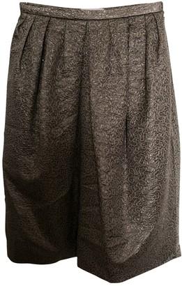 Dice Kayek Silver Silk Skirts