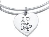 "Lovethislife LovethisLife ""I Love My Dog"" Crystal Bangle Bracelet"