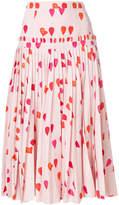 Alexander McQueen petal print skirt