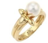 Mikimoto Akoya 18K Yellow Gold Pearl Floral Ring Size 5.75