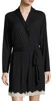 Eberjey Lady Godiva Lace-Trimmed Robe