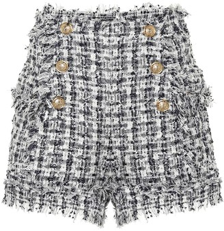 Balmain Boucle tweed shorts