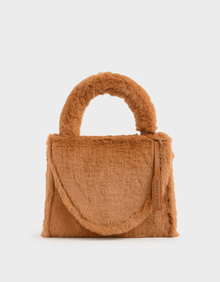 Charles & Keith Textured Structured Bag