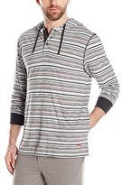 Tommy Bahama Men's Heather Stripe Pull Over Hoodie