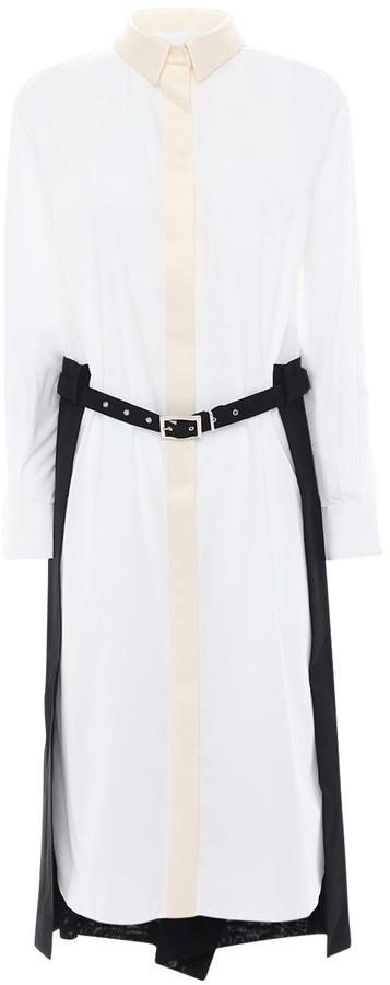 Sacai Shirt Dress W/ Pleated Skirt